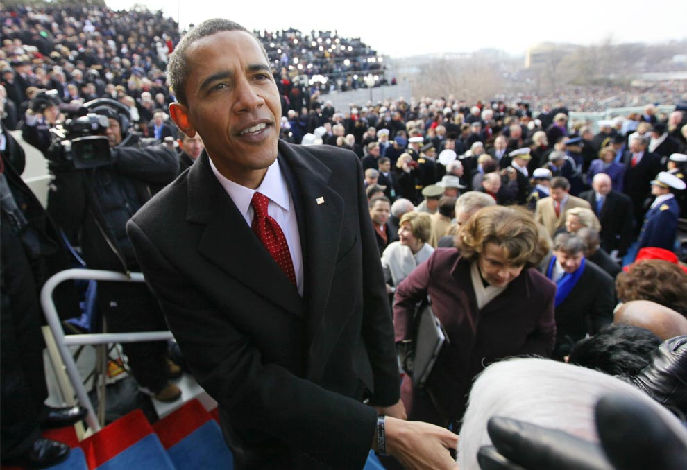 Barack Obama, at his inauguration as 44th President of the United States (J. Scott Applewhite-Pool/Getty Images)