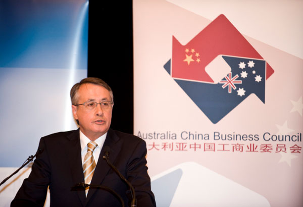 Autralian Treasurer Wayne Swan at the Australia China Business Council (Photo: ACBC)