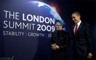Indian PM Singh & US President Obama at the G20 Summit in London earlier this year (Photo: Getty Images)