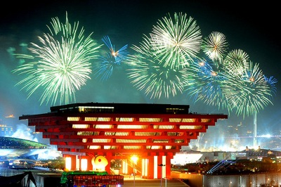 China's pavilion on the opening night of the World Expo in Shanghai. (Photo: Flickr user 'Meiguoxing')