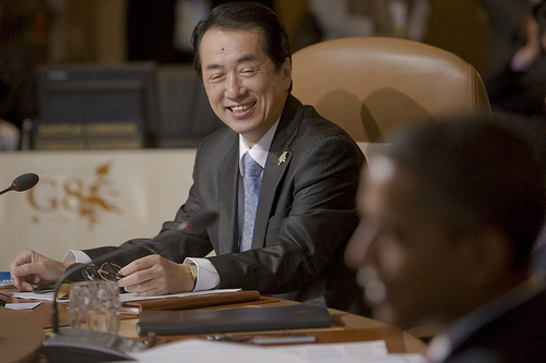 Japanese Prime Minister Naoto Kan attends a working session at the G8 Summit at the Deerhurst Resort on Saturday, June 26, 2010. (Photo: Francis Vachon)