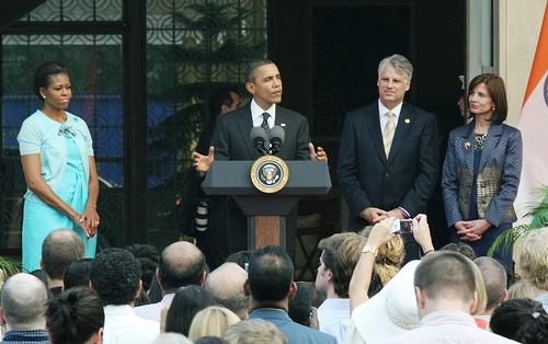 President and Mrs. Obama visit New Delhi, on November 7-9, 2010. (Photo: US Embassy New Delhi)