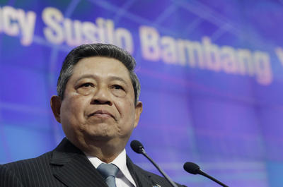 Indonesian President Susilo Bambang Yudhoyono speaks at the APEC summit in Vladivostok, Russia on 8 September 2012 (Photo: AAP).