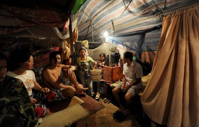 Migrant workers resting in their makeshift tents near a construction site in Hefei, in Anhui province, eastern China. Workers such as these have contributed enormously to the Chinese economic miracle in the past three decades as they built Chinese skyscrapers and laboured in Chinese factories. (Photo: AAP)