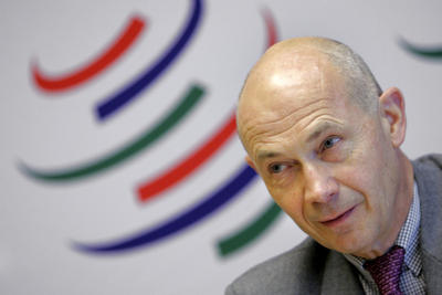 World Trade Organisation (WTO) director general Pascal Lamy answers a question during a news conference following a Trade Negotiations Committee meeting, at the WTO Headquarters, in Geneva. (Photo: AAP)