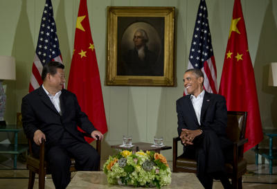 President Barack Obama meets with Chinese President Xi Jinping at the Annenberg Retreat at Sunnylands on 7 June 2013, in California. (Photo: AAP)