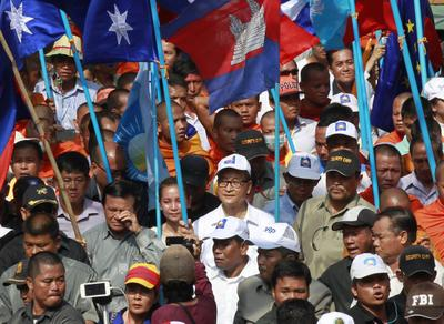 Cambodian opposition boycotts parliament to what end?