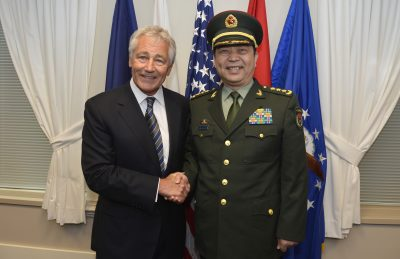 US Defense Secretary Chuck Hagel and China