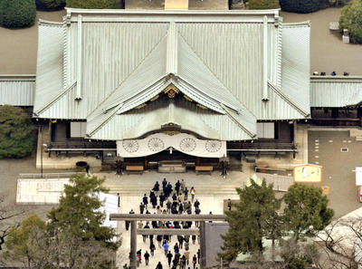 A photo shows Yasukuni Shrine where Japanese Prime Minister Shinzo Abe visits to pay a respect for the war dead including war criminals in Chiyoda Ward, Tokyo on Dec. 26, 2013. (Photo: AAP)
