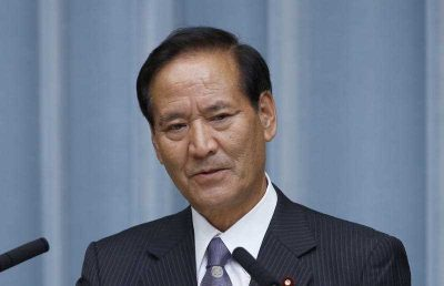 Newly appointed Minister of Agriculture, Forestry and Fisheries Koya Nishikawa speaks during a press conference at the official residence of the Japanese prime minister in Tokyo, 3 September 2014. (Photo: AAP)