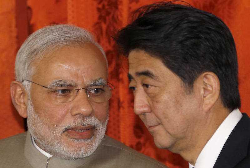 India draws Japan closer as Modi embraces Abe