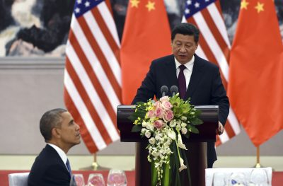 Chinese President Xi Jinping and US President Barack Obama in 2014. (Photo: AAP).