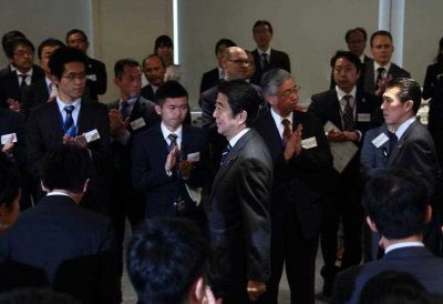 Shinzo Abe is the son of Shintaro Abe, a former leading member of the long-ruling LDP. (Photo: AAP)