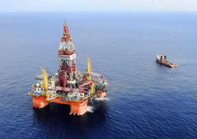 Chinese Haiyang Shiyou oil rig 981, 320 kilometers southeast of Hong Kong in the South China Sea, 7 May, 2012. On  July 16, 2014, China moved an oil rig that it had deployed in a section of the South China Sea, triggering a dispute with Vietnam. (Photo: AAP)