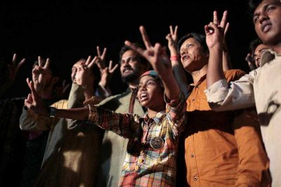 Bangladeshi activists campaigning for capital punishment, Dhaka, Bangladesh, Saturday, April 11, 2015. (Photo: AAP)