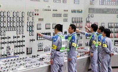 Operators check monitors in the central control room of the Kyushu Electric Power Sendai nuclear power plant in Satsumasendai, Kagoshima prefecture on August 14, 2015. Japan regained supply of electricity generated by nuclear power on August 14 after a two-year hiatus. (Photo: AAP).