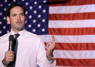 US Republican presidential candidate Senator Marco Rubio, who wrote an op'ed in the Wall Street Journal detailing his tough stance on China, speaks at a town hall Ohio, 21 August 2015. (Photo: AAP).