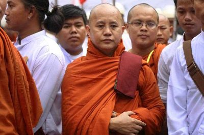 Controversial Myanmar monk Wirathu attends a celebration of the MaBaTha organisation (Committee to Protect Race and Religion) in Mandalay, 21 September 2015. (Photo: AAP)