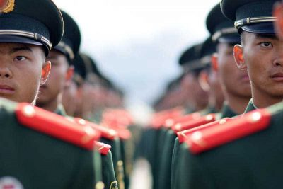 Chinese soldiers line up during a ceremony in Kunming city, southwest China's Yunnan province, 25 November 2015. (Photo: AAP)