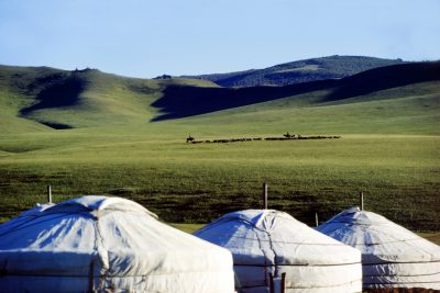 Hotel gers in Hustaii Nuruu national park, Mongolia. (Photo: AAP)