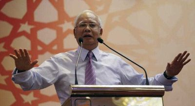 Malaysian Prime Minister Najib Razak delivers a speech during an event in Kuala Lumpur, Malaysia, 14 March 2016. (Photo: AAP).