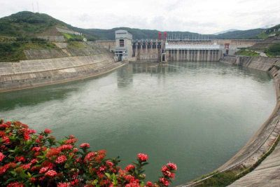 A view of the dam at the Jinghong Hydropower Station on the Lancang River, the Chinese section of the Mekong River, in Jinghong city, Yunnan province, 20 May 2013. (Photo: AAP).
