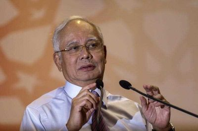A file photograph showing Malaysian Prime Minister, Najib Razak as he prepare to deliver his speech during an event in Kuala Lumpur, Malaysia, 14 March 2016. (Photo: AAP).