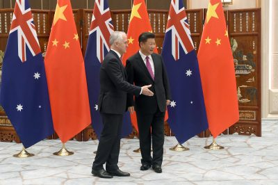 Australia's Prime Minister Malcolm Turnbull meets Chinese President Xi Jinping in Hangzhou (Photo: Reuters/Wang Zhao).