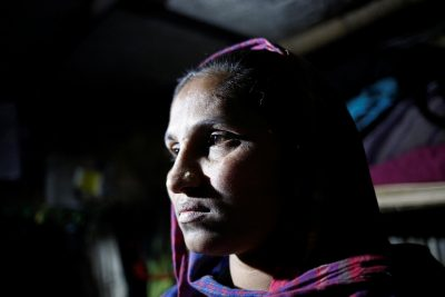 Rohingya Muslim refugee Sanmaraz inside her room in the Leda Unregistered Refugee Camp, in Teknaf, Bangladesh,15 February, 2017 (Photo: Reuters/Mohammad Ponir Hossain).