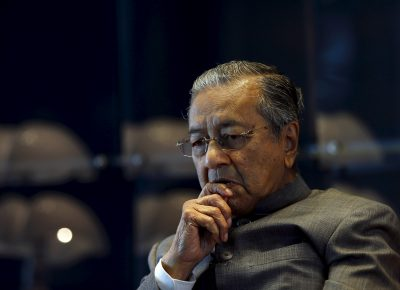 Malaysia's former prime minister Mahathir Mohamad during an interview with Reuters at his office in Petronas Towers, Kuala Lumpur, Malaysia, 22 October 2015. (Photo: Reuters/Olivia Harris).