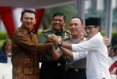 Governor Ahok concedes Jakarta election to Baswedan