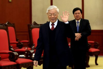 Vietnam's General Secretary Nguyen Phu Trong at the office of Communist Party Vietnam Central Committee in Hanoi, Vietnam, 16 January, 2017 (Photo: Reuters/Minh Hoang/Pool).