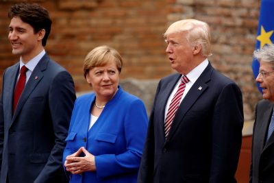 Merkel criticizes Trump trade policy before G20