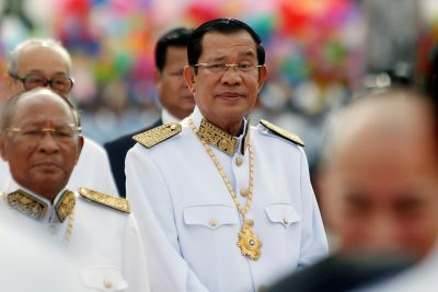 Cambodian Prime Minister Hun Sen attends the 64th anniversary celebrations of the country's independence from France, in Phnom Penh, Cambodia, 9  November, 2017 (Photo: Reuters/Samrang Pring).
