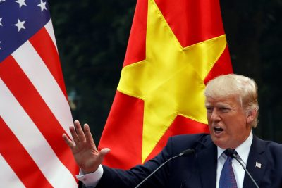 US President Donald Trump attends a news conference at the Presidential Palace in Hanoi, Vietnam 12 November, 2017 (Photo: Reuters/Kham).