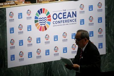President of Federated States of Micronesia, Peter Christian departs after speaking at the opening of The Ocean Conference at the United Nations in the Manhattan borough of New York City, New York, US, 5 June 2017 (Photo: Reuters/Allegri).