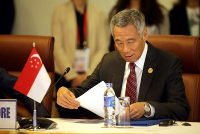 Singapore's Prime Minister Lee Hsien Loong attends the Trans-Pacific Partnership meeting held on the sidelines of the APEC summit in Danang, Vietnam on 10 November 2017. (Photo: Reuters/Na-Son Nguyen).