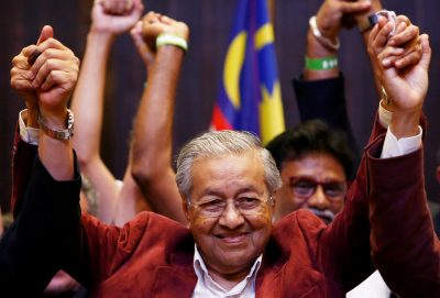 Newly elected Malaysian Prime Minister Mahathir Mohamad reacts during a news conference after the general election, in Petaling Jaya, Malaysia on 10 May 2018. (Photo: Reuters/Lai Seng Sin).