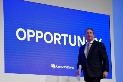 Britain's International Trade Secretary Liam Fox arrives to address the Conservative Party Conference in Birmingham, Britain, 30 September 2018. (Photo: Reuters/Toby Melville)