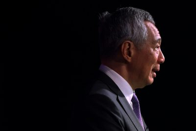 Singapore's Prime Minister Lee Hsien Loong speaks at the ASEAN Business and Investment Summit in Singapore, 12 November 2018 (Photo: Reuters/Athit Perawongmetha).