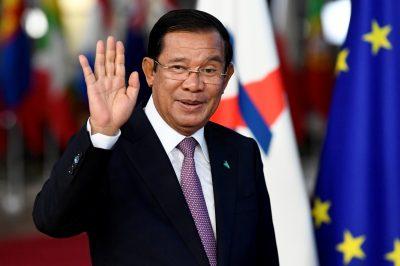 Cambodia's Prime Minister Hun Sen arrives at the ASEM leaders summit in Brussels, Belgium 18 October 2018 (Photo: Reuters/Piroschka van de Wouw).