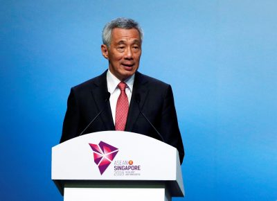 Singapore's Prime Minister Lee Hsien Loong speaks during the opening ceremony of the 33rd ASEAN Summit in Singapore, 13 November 2018 (Photo: Reuters/Edgar Su).