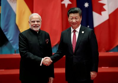 Chinese President Xi Jinping shakes hands with Indian Prime Minister Narendra Modi during the G20 Summit in Hangzhou, China, 4 September 2016 (Photo: Reuters/Damir Sagolj).