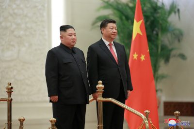 North Korean leader Kim Jong Un meets President Xi Jinping in Beijing, China, in this photo released by North Korea's Korean Central News Agency, 10 January 2019 (Photo: Reuters/KCNA).