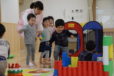Playtime at a Babu Land childcare centre at a Toyota plant in Japan (Photo: Toyota Motor Corporation).
