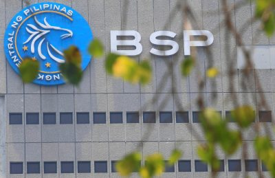 A logo of the Bangko Sentral ng Pilipinas (Central Bank of the Philippines) is seen at their headquarters in Manila, Philippines 28 April 2016 (Photo: Reuters/Romeo Ranoco).