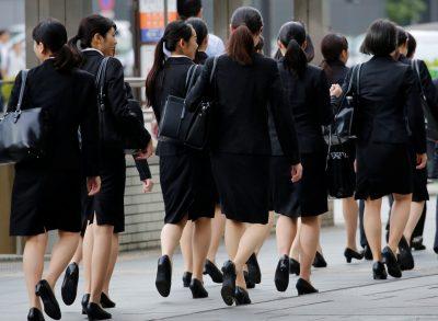 Femmes au bureau de Tokyo, Japon, 4 juin 2019 (Photo: Reuters / Kim Kyung-Hoon).