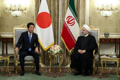 Iranian President Hassan Rouhani meets with Japan's Prime Minister Shinzo Abe in Tehran, 12 June 2019 (Photo: Reuters).
