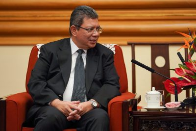 Malaysian Foreign Minister Dato' Saifuddin Abdullah speaks with member of the Politburo of the Communist Party of China Yang Jiechi (not pictured) during a meeting in Beijing, China September 12, 2019 (Photo: Reuters/Verdelli).