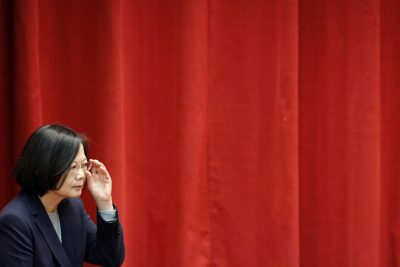 Taiwan President Tsai Ing-wen listens to a speaker in New Taipei City, Taiwan, 26 December 2019 (Photo: REUTERS/Ann Wang).